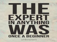 The expert in Anything was once a beginner