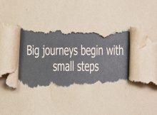 Journeys begin with small steps