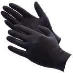 ShuBee® Black Gauntlet® Silver Edition Black Nitrile Gloves