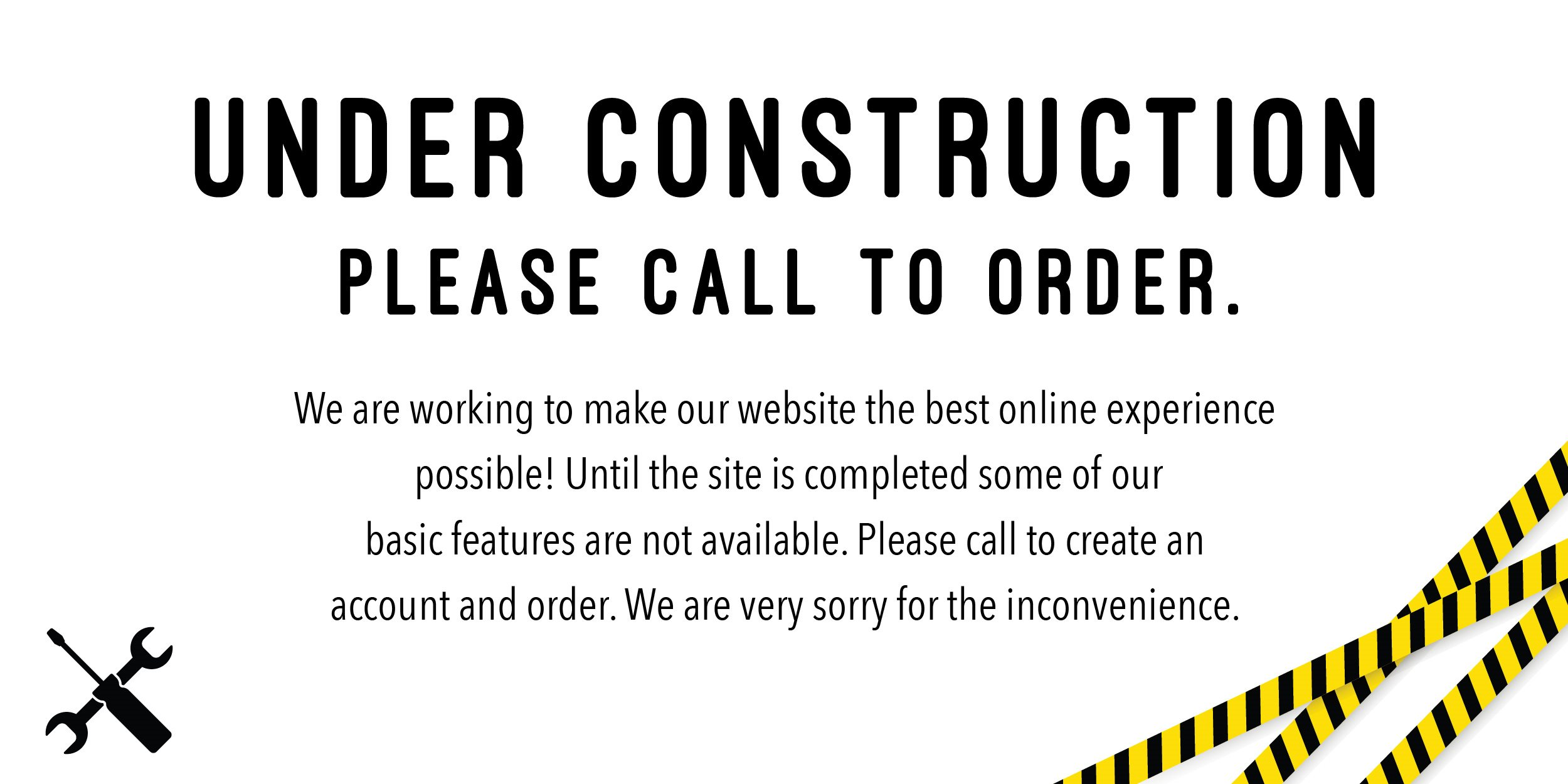 Website under construction | Call to order